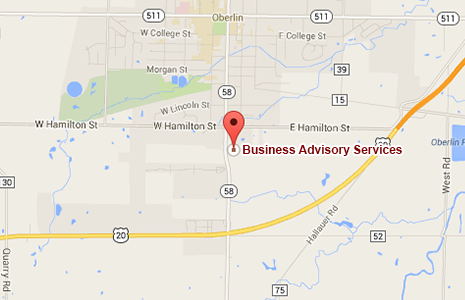 Business Advisory Services Map